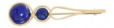Große Brosche Gold 750 mit Lapis Lazuli Cabochons Goldbrosche 12 g 18 Karat