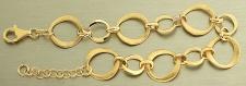 Massives Armband Silber 925 vergoldet - tolles Silberarmband Gold pl - Armkette