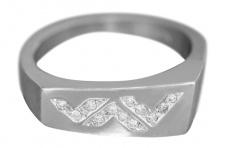 Ring Weißgold 585 mit 12 Brillanten Damenring Brillantring Weißgoldring 14 Kt