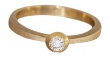Brillantring Solitärring Ring Gold 585 Goldring 0, 17 ct Diamantring Damenring