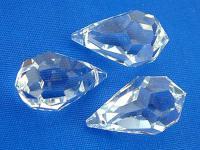 5 Stk Feng Shui Kristalltropfen zum Aufhängen - kleine Kristalle facettiert