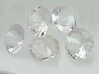 5 Bergkristalle im Brillantschliff - Bergkristall 20 mm farblos