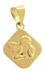 Anhänger kleiner Schutzengel Gold 585 Goldanhänger zur Taufe od Kommunion 14kt