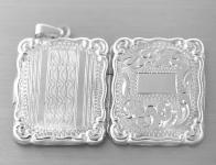 Anhänger Medaillon in Silber 800, rechteckig