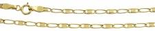 50 cm dekorative flache Goldkette 585 Halskette Kette Gold 14 kt Collier