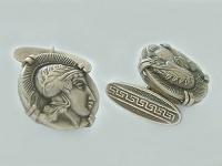 Manschettenknöpfe Jugendstil - Silber 800 Olympioniken - Silbermanschettenknöpfe