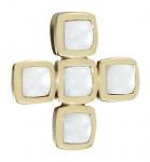 Anhänger gleichschenkeliges Kreuz Gold 585 - Goldanhänger mit Perlmutt Quadraten