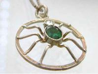 Kette und Anhänger Spinne aus den 50er Jahren Silber 800 - Silberanhänger
