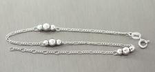 Fußkette Silber 925 - trendy Fußkettchen mit Kugeln - Silberkette - Kugelkette