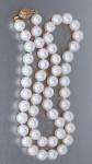 45 cm lange echte Perlenkette mit Kugelverschluss Gold 585 14 Karat Perlen