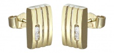 Ohrstecker Gold 585 mit Brillanten 0, 08 ct - Goldohrstecker Diamant Ohrringe