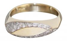 Brillantring 0, 36 ct. Ring Gold 585 Brillanten Goldring massiv Damenring RW 59