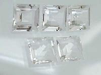 Fünf Bergkristalle im Carreeschliff - 5 Stück Bergkristall Carree 15 mm