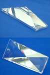 Feng Shui - großer moderner funkelnder Kristall zum Aufhängen - ca. 6 x 3 cm
