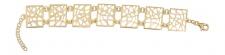 Breites Designer Armband Silber 925 - Gold diamantiert - Silberarmband vergoldet