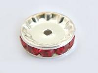 10 Stk. rote Dekorteile für Perlen- oder Kugelketten