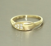 Brillantring - Goldring 585 mit Brillanten 0, 12 ct. - Ring Gold - edles Design