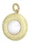 Perlenanhänger Gold 750 mit Mabe Perle Goldanhänger 18 kt mit Mabeperle Pendant