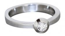 Brillantring 0, 17ct Weißgold 585 - Ring Brillant Solitär Weißgoldring Damenring
