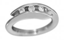 Ring Weißgold 750 Brillantring 0, 20 ct. Weißgoldring Damenring Gold 18 Karat