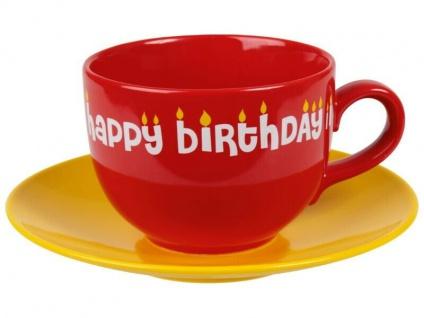 Jumbo Tasse - happy birthDay
