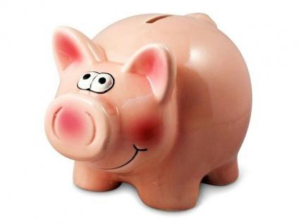 süsses Sparschwein aus Keramik ohne Aufdruck