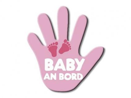 Hand für den Heckscheibenwischer - Baby an Board Rosa