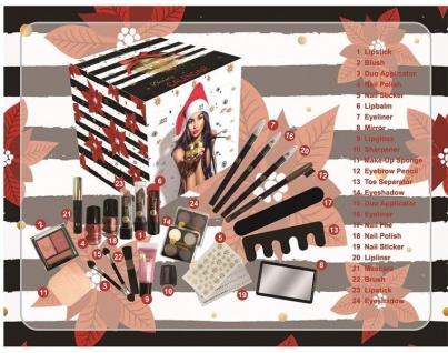 Accentra Kosmetik Adventskalender quadratisch für Teenager Mädchen & Frauen, 24 - Vorschau