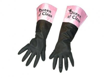 PVC Handschuhe Queen of Clean pink/schwarz