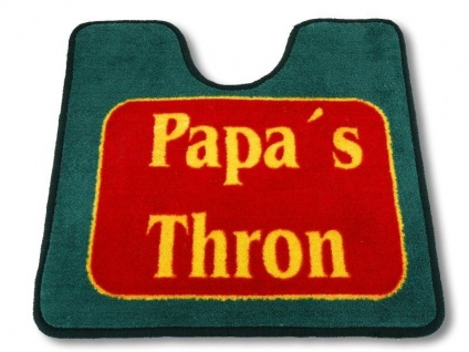 Der lustige Badezimmer Vorleger - Papas Thron - Vorschau