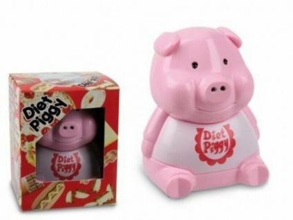 Das Diät Schweinchen für den Kühlschrank - Pink