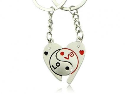 Edler Schlüsselanhänger - Love - Ying & Yang