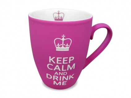 Becher Keep Calm and Drink Me - pink - Vorschau