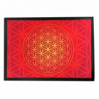 Fußmatte Blume des Lebens rot 70 x 50 cm