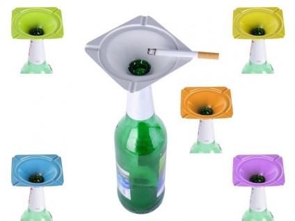 Der geniale Aschenbecher für Bierflaschen