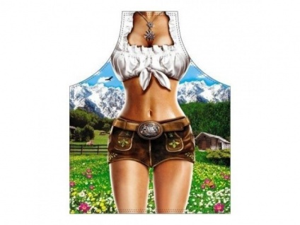 Die sexy Alpenmodel Frauen Kochschürze