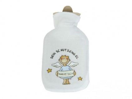 Wärmflasche Dein Schutzengel Fleecebezug 500 ml blau
