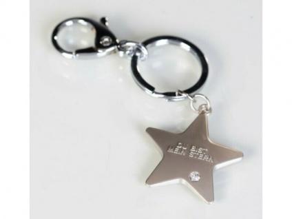 Schlüsselanhänger Du bist mein Stern mit Strassstein