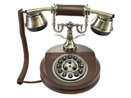 Nostalgisches altes Telefon mit neuer Technik 1913 braun - Vorschau