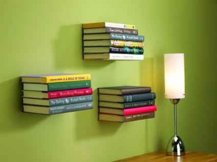 Das geniale Bücher Regal das unsichtbar ist