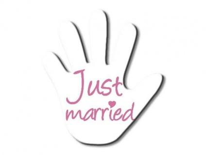 Hand für den Heckscheibenwischer - Just Married