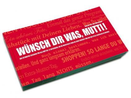 Gutscheinbuch Wünsch dir was - Mutti