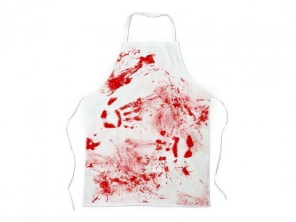 Schürze mit Blutflecken - Blutbad Kochschürze