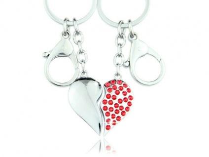 Liebes Anhänger aus 2 Herzen für den Schlüsselbund