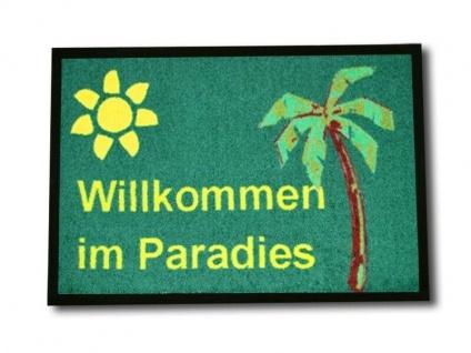 Fußabtreter Willkommen im Paradies