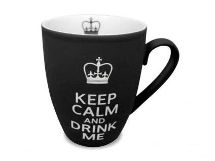 Becher Keep Calm and Drink Me - schwarz