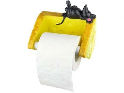 Toilettenpapierhalter als Maus mit Käse