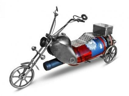 Weinflaschenhalter Chopper/Motorrad