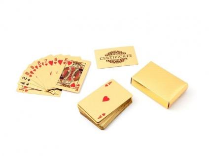 Goldene Spielkarten