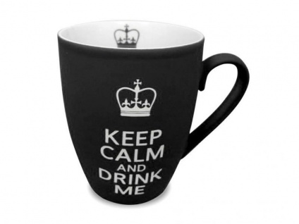 Becher Keep Calm and Drink Me - schwarz - Vorschau